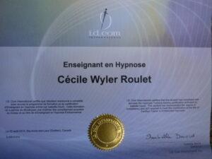 Diplome enseignante Hypnose
